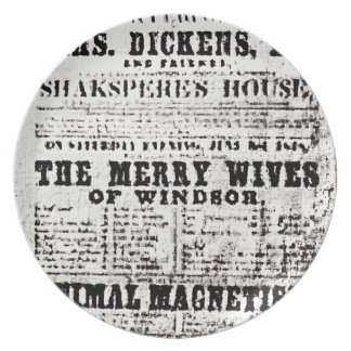 Stratford-upon-Avon Shakespeare's Artifacts3 jGib Party Plate