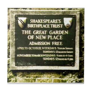 Stratford-upon-Avon  Shakespeare's Birth jGibney Small Square Tile