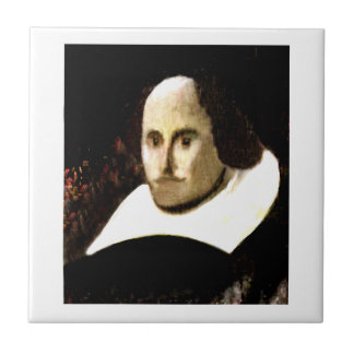 Stratford-upon-Avon Shakespeare's Portrait jGibne Small Square Tile