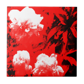 Stratford-upon-Avon White Flowers In The Red jGibn Small Square Tile