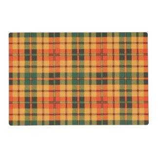 Strathearn clan Plaid Scottish tartan Laminated Place Mat