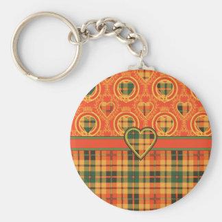 Strathearn Scottish Tartan Key Ring