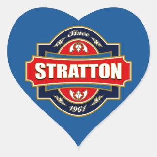 Stratton Old Label Heart Sticker