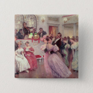 Strauss and Lanner - The Ball, 1906 15 Cm Square Badge