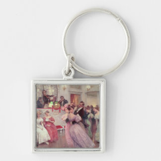 Strauss and Lanner - The Ball, 1906 Key Ring