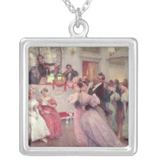 Strauss and Lanner - The Ball, 1906 Silver Plated Necklace