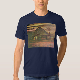 Straw hut at dusk by Vincent van Gogh Tee Shirt