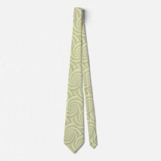 Straw Spiral in brushed metal texture Tie