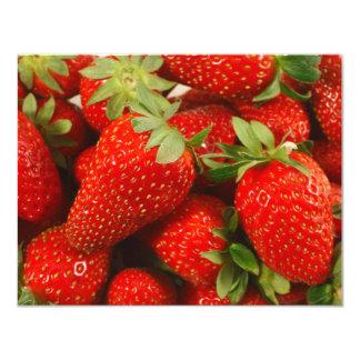 Strawberries 11 Cm X 14 Cm Invitation Card