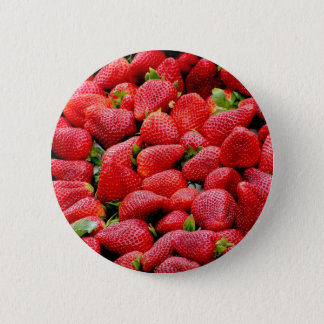 Strawberries 2 6 cm round badge