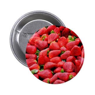 Strawberries 2 6 cm round badge