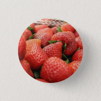 Strawberries 3 Cm Round Badge