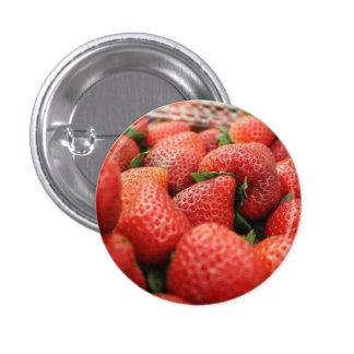 Strawberries 3 Cm Round Badge