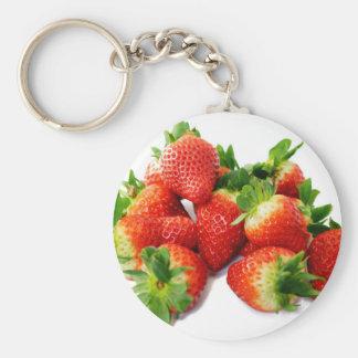 Strawberries 3 key ring