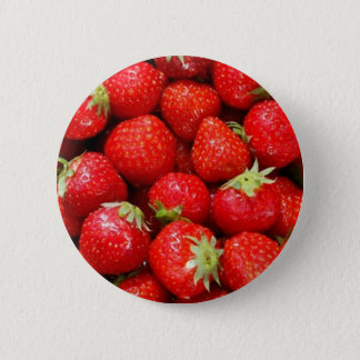 Strawberries 6 Cm Round Badge