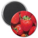 Strawberries 6 Cm Round Magnet