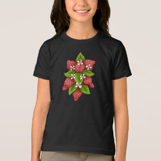 Strawberries and Blossoms Girls T-Shirt