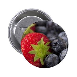 Strawberries and Blueberries 6 Cm Round Badge