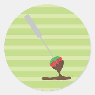 Strawberries and Chocolate Fondue Classic Round Sticker