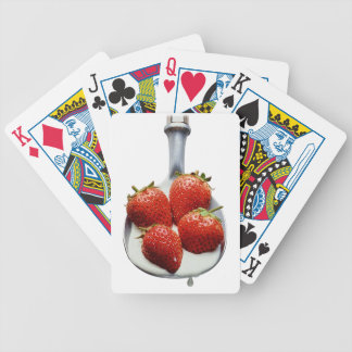 Strawberries and Cream Bicycle Playing Cards