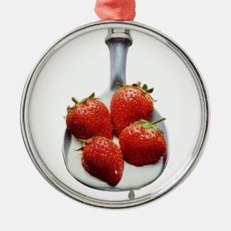 Strawberries and Cream Christmas Ornament
