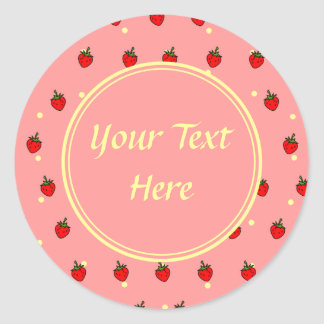 Strawberries and Cream Customizable Sticker