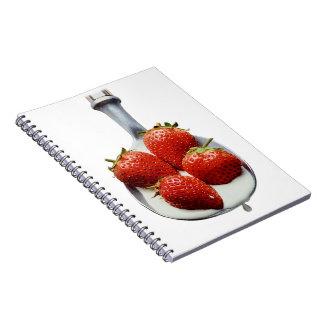 Strawberries and Cream Notebooks