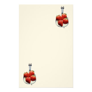 Strawberries and Cream Stationery