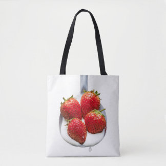 Strawberries and Cream Tote Bag