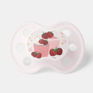 Strawberries And Cupcakes Art Baby Pacifier