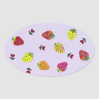 strawberries and hearts stickers