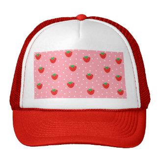 Strawberries and Polka Dots Pink Cap