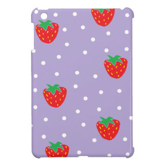 Strawberries and Polka Dots Purple iPad Mini Case