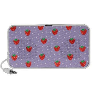 Strawberries and Polka Dots Purple Notebook Speakers