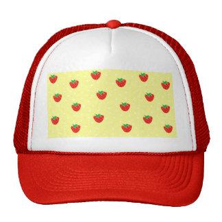 Strawberries and Polka Dots Yellow Cap