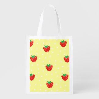 Strawberries and Polka Dots Yellow