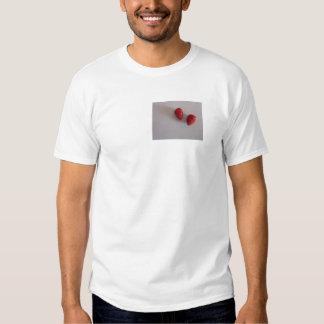Strawberries as heart shirt