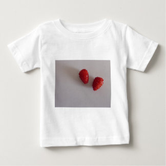 Strawberries as heart t shirts