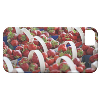 Strawberries at a market stall iPhone 5 cases