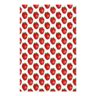 Strawberries background stationery