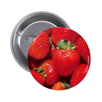Strawberries 6 Cm Round Badge