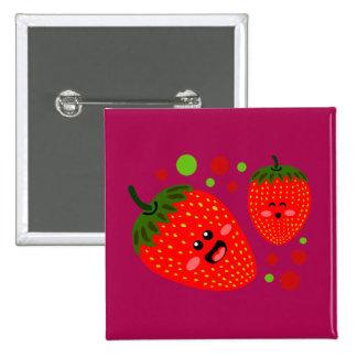 Strawberries 15 Cm Square Badge