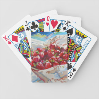 Strawberries Bicycle Playing Cards