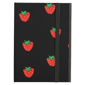 Strawberries Black iPad Air Cases