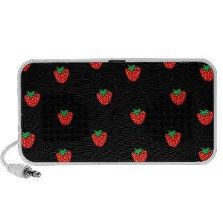 Strawberries Black Travel Speaker