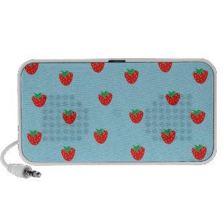 Strawberries Blue Travel Speakers