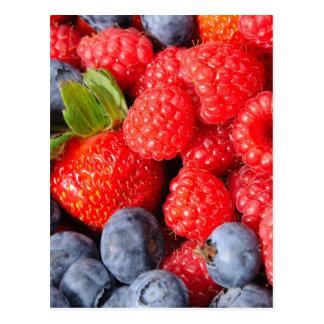 Strawberries Blueberries and Raspberries Postcard