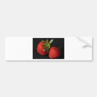 strawberries bumper sticker