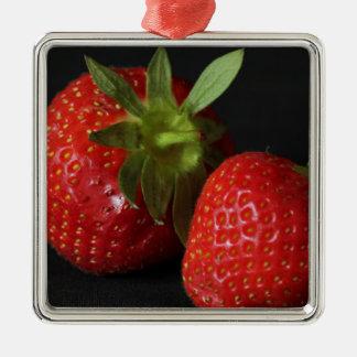 strawberries christmas ornament