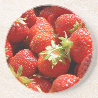 Strawberries Beverage Coasters